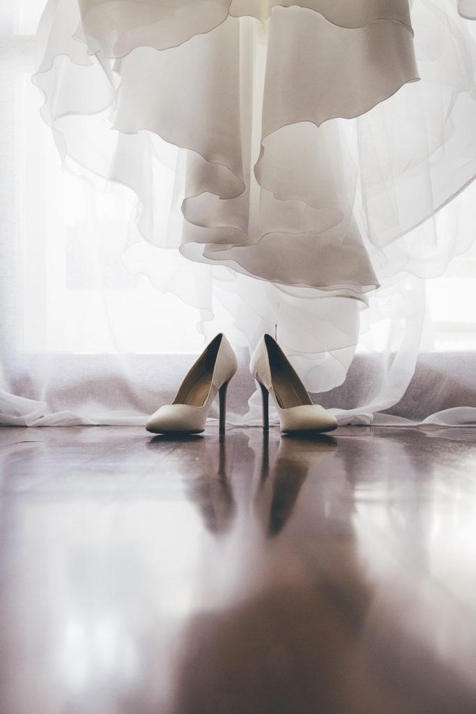 abito da sposa in controluce
