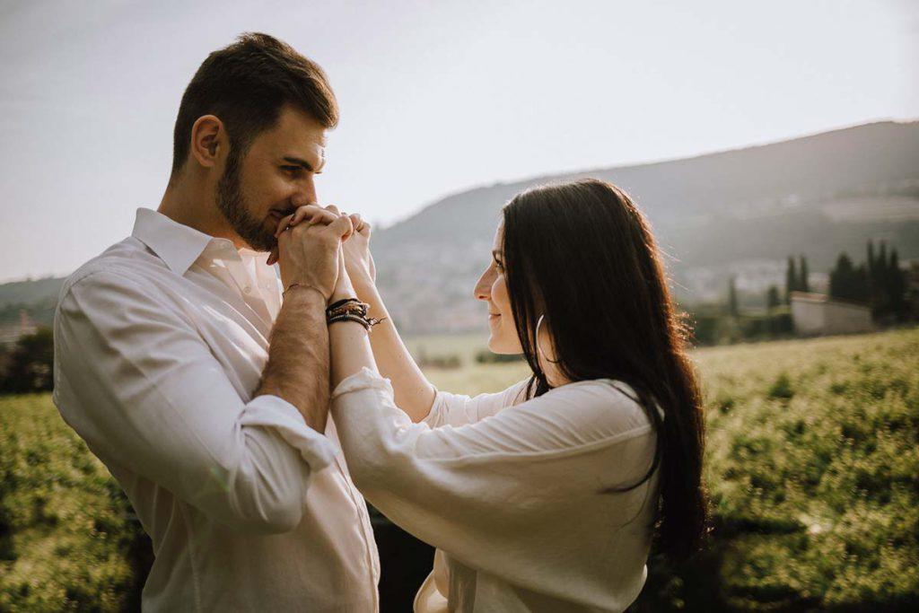 Servizio fotografico di coppia, engagement, Valpolicella, Verona